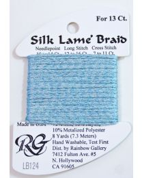 Silk Lame Braid 13 Blue Glow