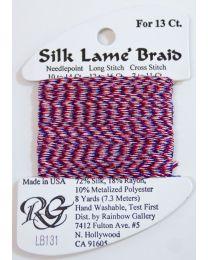 Silk Lame Braid 13 4th of July