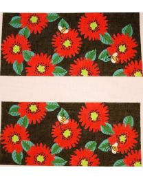 Bees on Red Zinnias Laura Bag