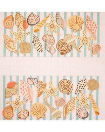 Shells w Aqua Stripes Laura Bag