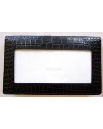 Leather Wallet Black Alligator
