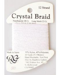 Crystal Braid White Pearl