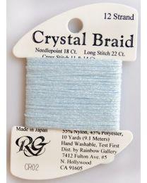 Crystal Braid Baby Blue Pearl