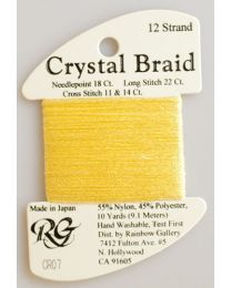 Crystal Braid Yellow Pearl