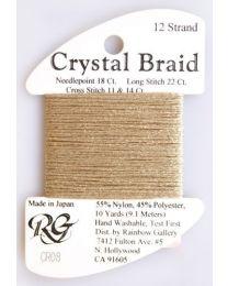 Crystal Braid Old Gold Pearl