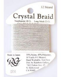 Crystal Braid Silver Pearl