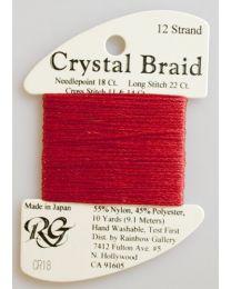 Crystal Braid Brite Red