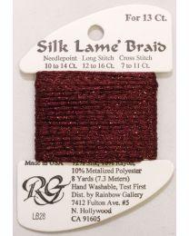 Silk Lame Braid 13 Burgundy