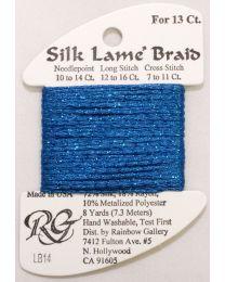 Silk Lame Braid 13 Blue