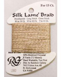 Silk Lame Braid 13 Camel