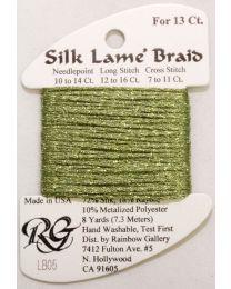 Silk Lame Braid 13 Avocado