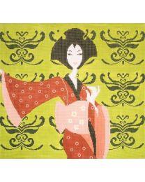 Geisha w Pink Kimono SPL59