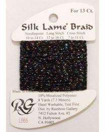 Silk Lame Braid 13 Black Sparkl