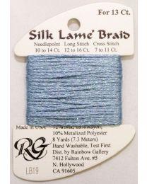 Silk Lame Braid 13 Antique Blue