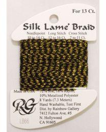 Silk Lame Braid 13 Ant Gold