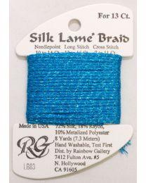 Silk Lame Braid 13 Bl Turq