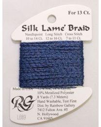 Silk Lame Braid 13 Blue Jeans
