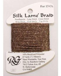 Silk Lame Braid 13 Bark