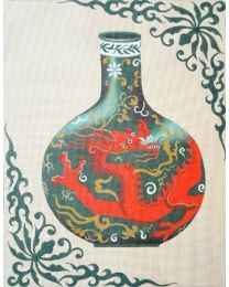 Ming Vase w/ Dragon