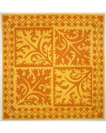 4 Square Orange Leaves