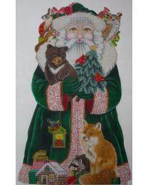 "30"" high Woodland Santa"