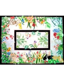 Bunnies and Flowers Rug