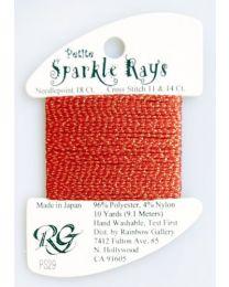 Petite Sparkle Rays - Cmas Red