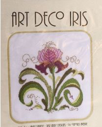 Art Deco Purple Iris