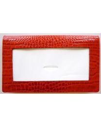 Leather Wallet Alligator Red