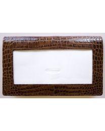 Leather Wallet Alligator Brown