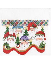 Five Santa Heads CSC96 13m
