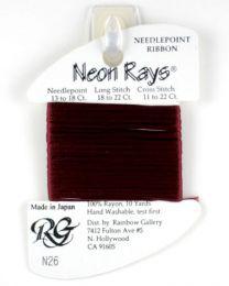 Neon Rays - Burgundy