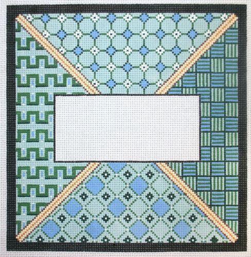 Tefillin Bag Green Blue Geom